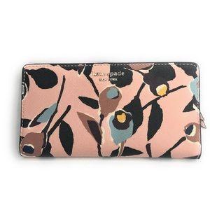 Kate Spade Rose Cameron Large Slim bifold Wallet